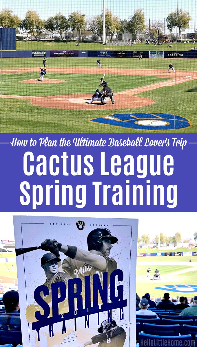 Collage of photos of Cactus League Spring Training in Phoenix, Arizona