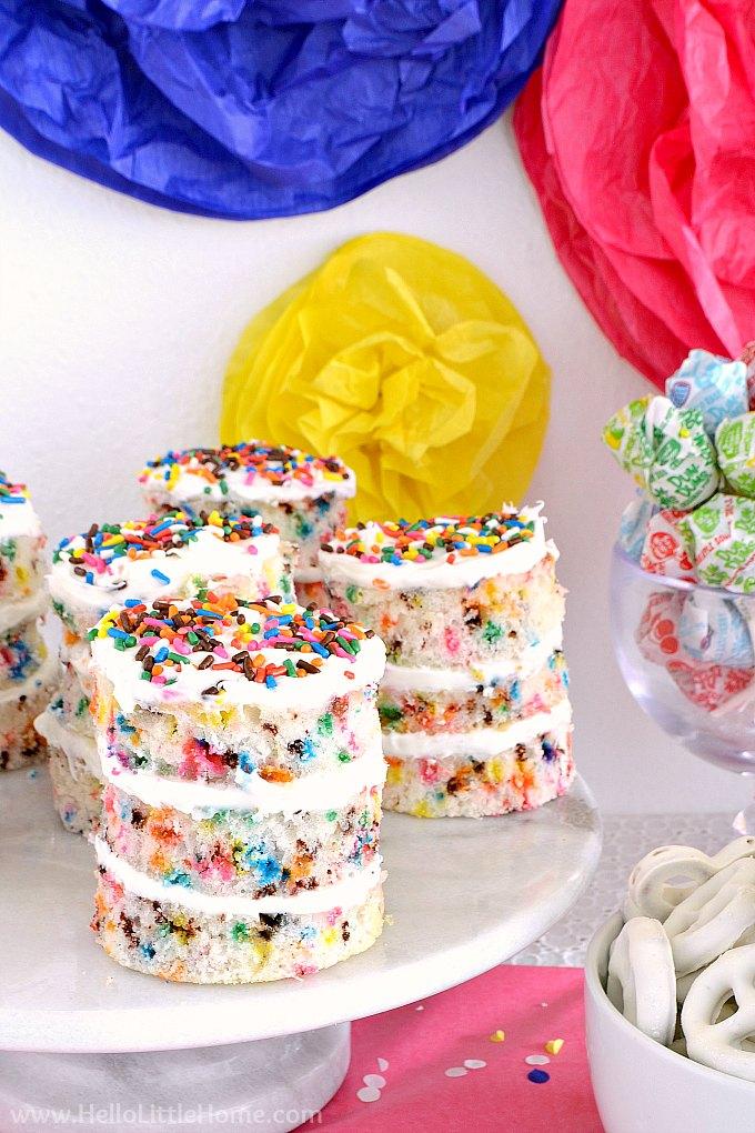 Sprinkles Birthday Party Food: Funfetti Cakes