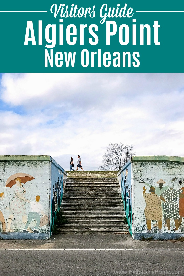 Stairs leading up to the levee in Algiers Point, New Orleans.