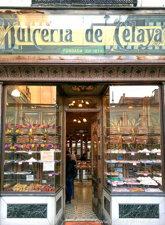 The exterior of Dulceria de Celaya in Mexico City's Historic Center.