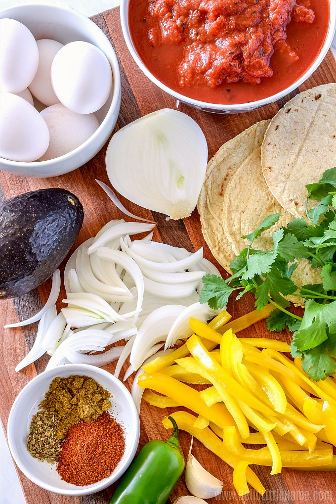 Ingredients for Mexican Baked Eggs