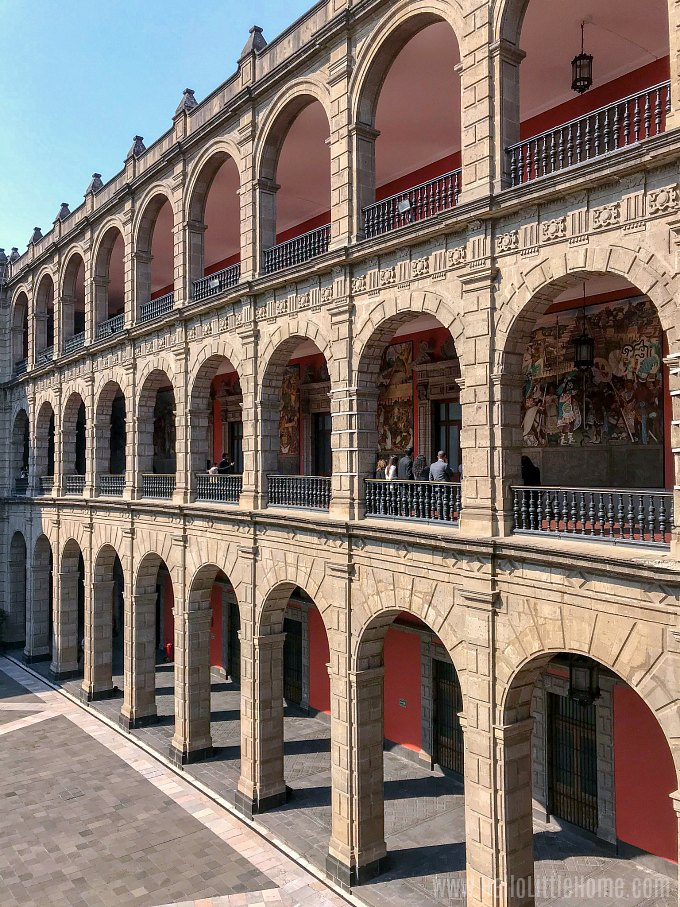 Grand Courtyard at the National Palace Mexico City.