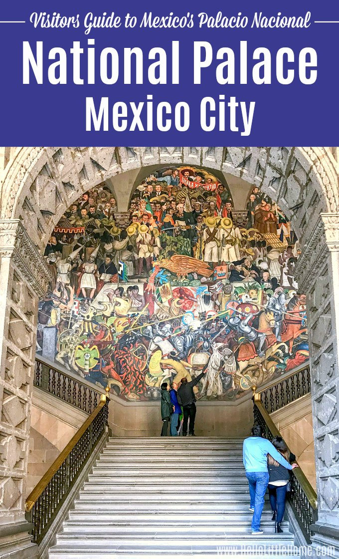 Tour the National Palace in Mexico City! Looking for things to do in Mexico City? Mexico's Palacio Nacional in the city's Historic Center is a super fun activity. It's one of the best places to see Diego Rivera murals in Mexico City! Located in downtown Mexico City, the National Palace combines history, architecture, and Mexican art … perfect if you're wondering what to do in Mexico City's Centro Historico! | Hello Little Home #mexicocity #cdmx #DiegoRivera #VisitMexico #mexicocityitinerary