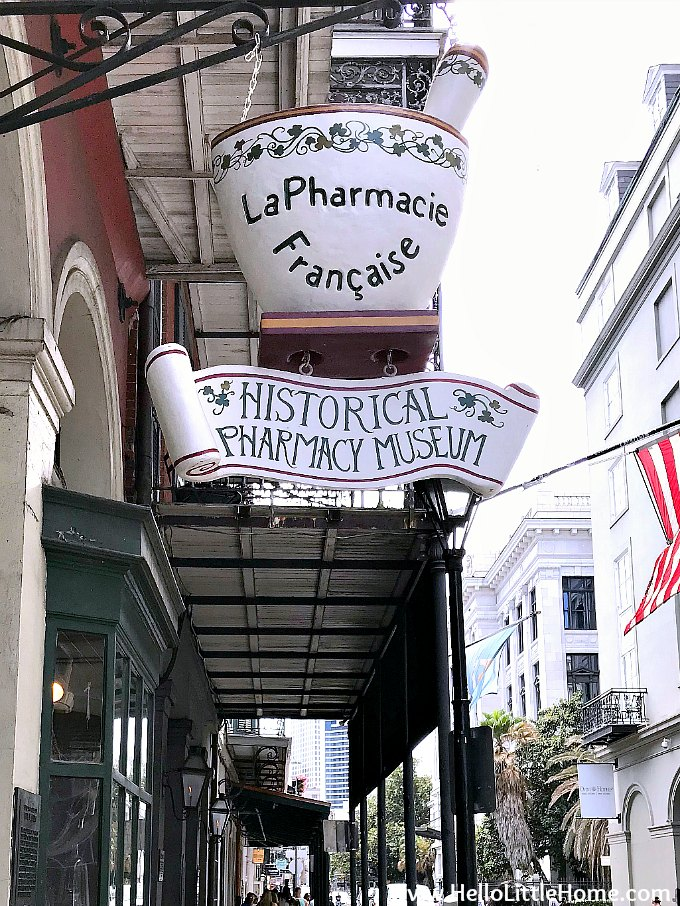 Exterior of the New Orleans Pharmacy Museum
