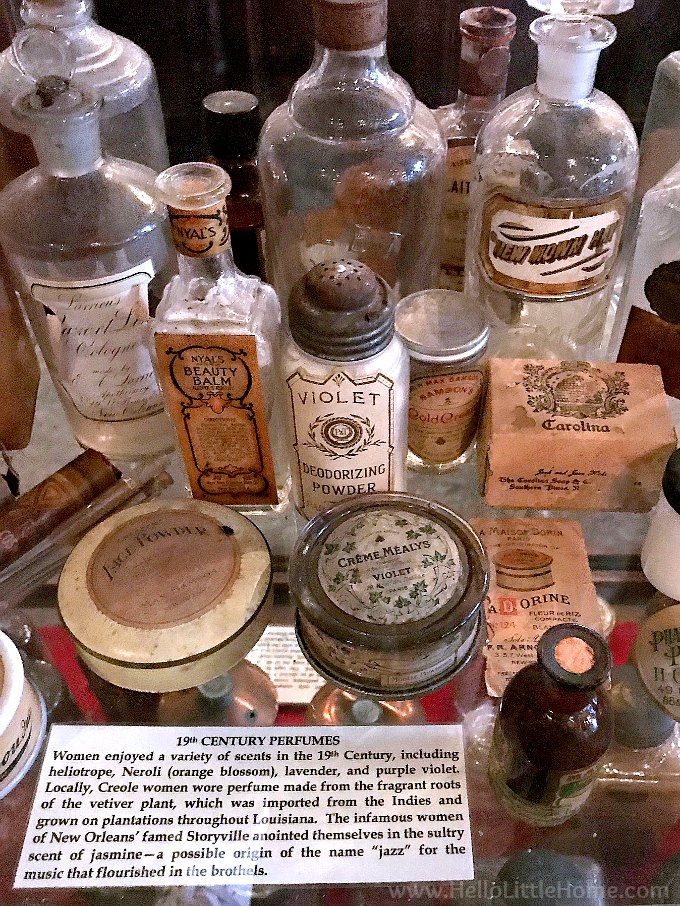 Vintage Beauty Products and Toiletries at the New Orleans Pharmacy Museum