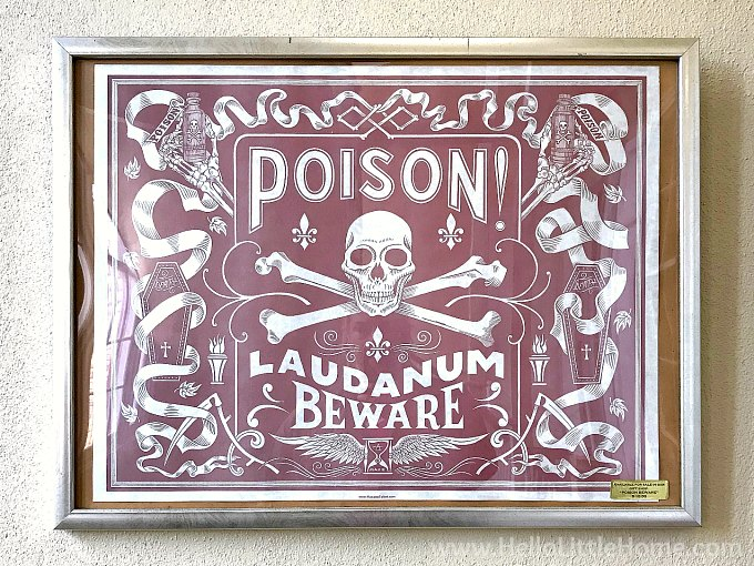 A poisin sign at the Pharmacy Museum in New Orleans French Quarter.