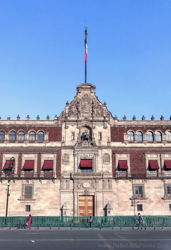 Palaco Nacional (National Palace) in the Centro Historico de Mexico City.