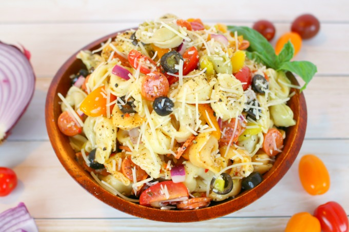 Italian Tortellini Salad from Delightfully E Made