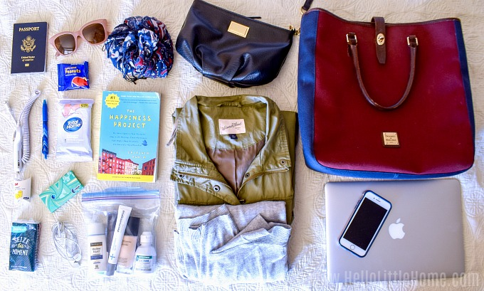 What to pack in your personal item for carry on only travel.