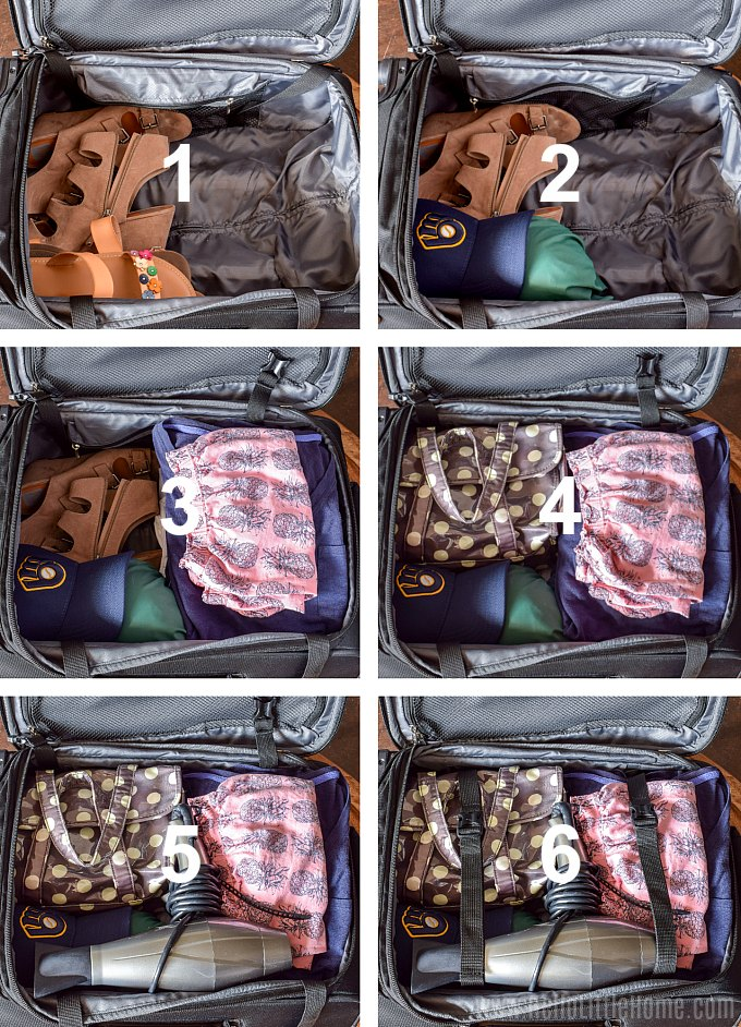 Step by step carry on packing tips for traveling light.