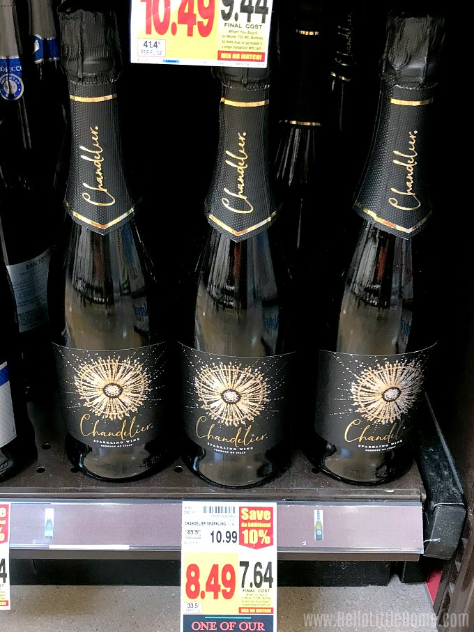 Chandelier Sparkling Wine at the Grocery Store