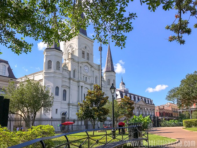 Finding a shady spot in Jackson Square in the French Quarter is the perfect way to cool of on a hot say in New Orleans.