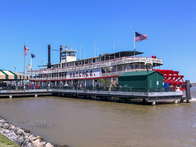 Steamboat Natchez, a fun New Orleans summer activity.