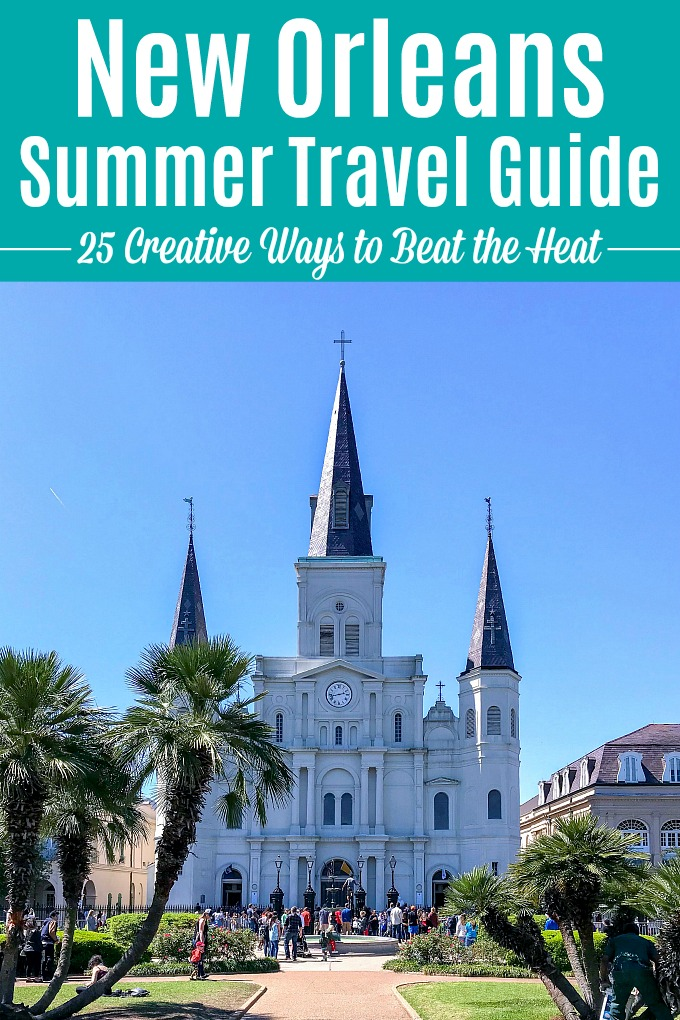 Summer in New Orleans: 25 creative ways to beat the heat! Traveling to New Orleans in June, July or August? Don't let the hot, humid weather ruin your trip. This New Orleans summer travel guide is full of fun things to do in New Orleans that will keep you cool, no matter how hot it is. These fun NOLA travel tips will help you decide what to do on your visit as the mercury rises! | Hello Little Home #neworleans #nola #onetimeinnola #thingstodoinneworleans #visitnola #frenchquarter #travelnola