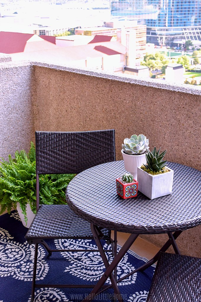 How to decorate a small patio on a budget.