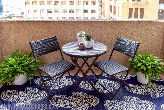 Decorate a small patio on a budget with these easy tips.
