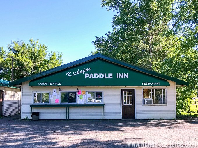 The Kickapoo Paddle Inn in Ontario, Wisconsin.