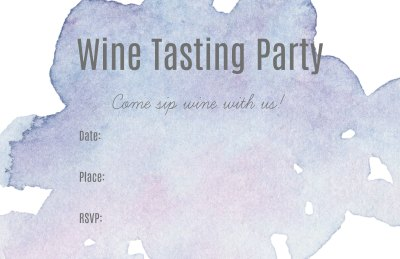 Wine Tasting Party Invitation - Free Printable