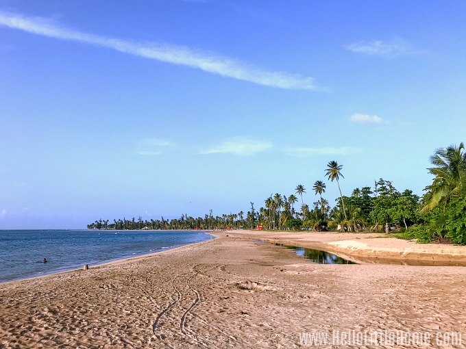 Beautiful Luquillo Beach in Puerto Rico.