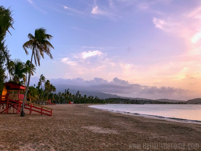 A gorgeous Luquillo Beach sunset in Puerto Rico.