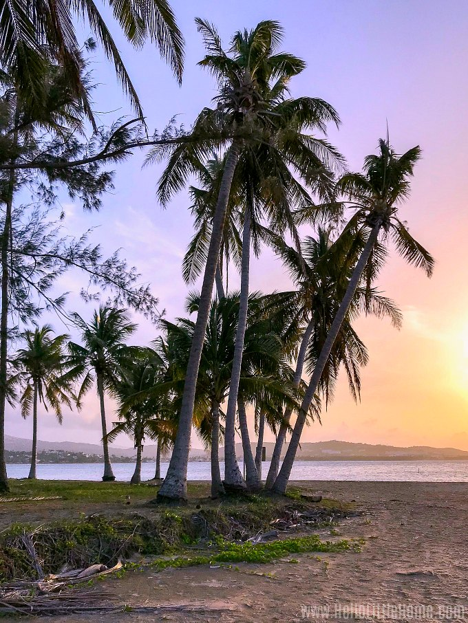 A stunning sunset on Play Luquillo in Puerto Rico.