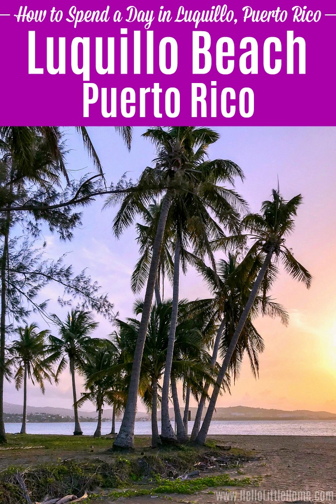 Visit beautiful Luquillo Beach, Puerto Rico! Just a short drive from San Juan, Luquillo has some of the best beaches in Puerto Rico. This vacation guide has all the best things to do in Luquillo! Use this Luquillo Puerto Rico travel guide to plan a perfect day, from hitting the beach to eating at the kiosks to hiking El Yunque Rainforest. | Hello Little Home #luquillo #luquillobeach #luquillopuertorico #puertorico #discoverpuertorico #thingstodopuertorico #visitpuertorico #beachvacation