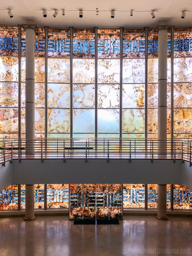 A beautiful stained glass installation at the Museo de Arte de Puerto Rico in San Juan.