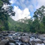Rocky Mamayes River at the Puente Roto day use area in El Yunque National Forest.