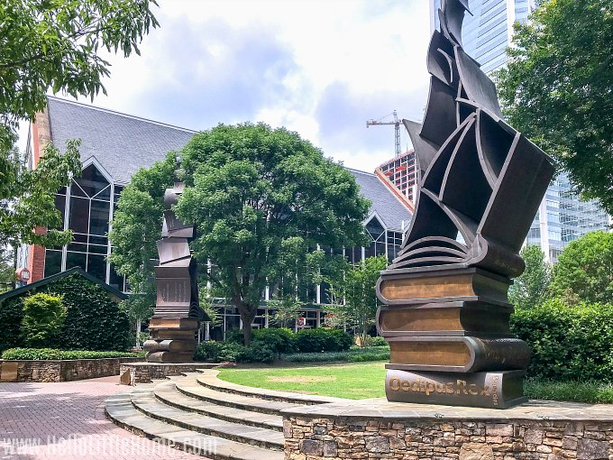 The Green, a literary themed park, in Downtown Charlotte.