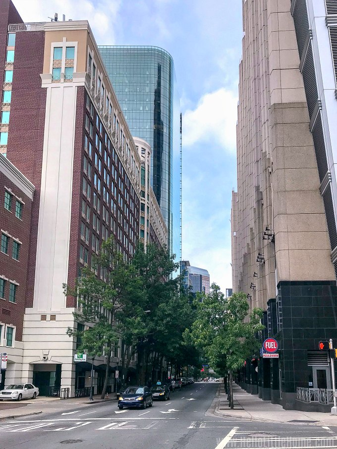 A street view of Downtown Charlotte.