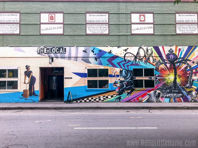 A mural on The Local in Uptown Charlotte, North Carolina.