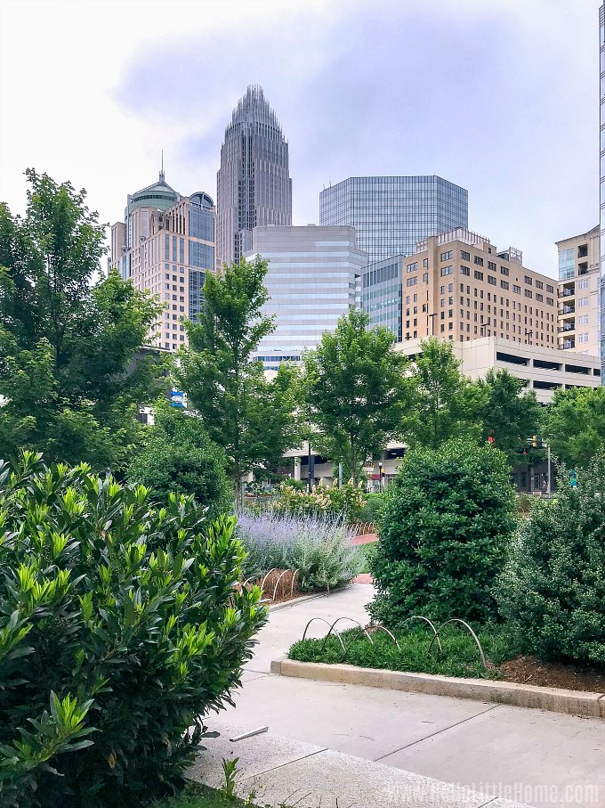 Visiting Romare Bearden Park, one of the best things to do in Uptown Charlotte.