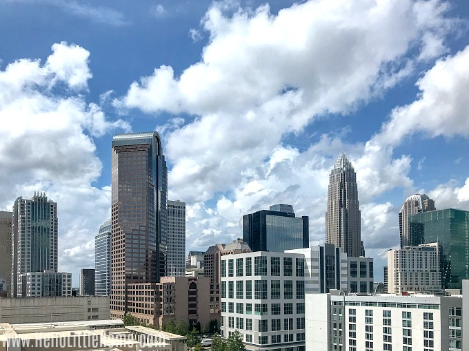 A view of the Uptown Charlotte skyline.