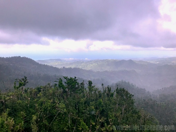 A panoramic view from the top of Yokahu Tower in El Yunque.