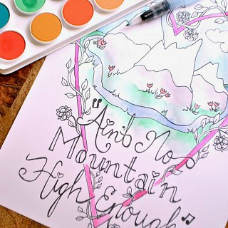 Ain't No Mountain High Enough Coloring Page
