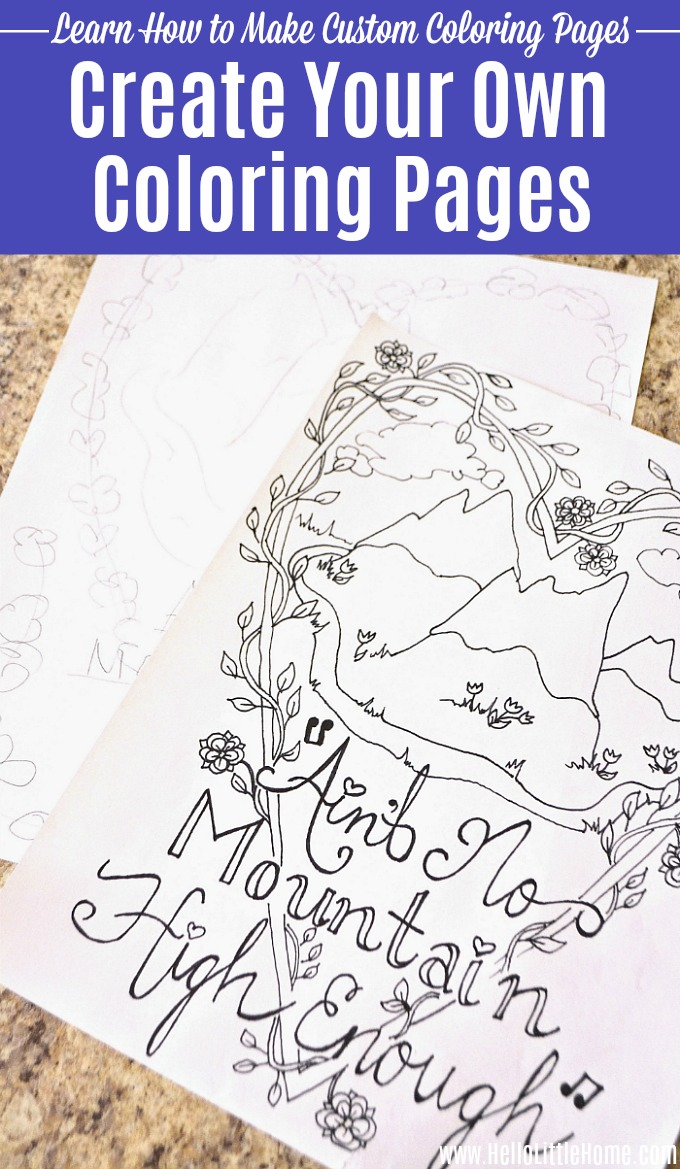 How to Create Your Own Coloring Pages