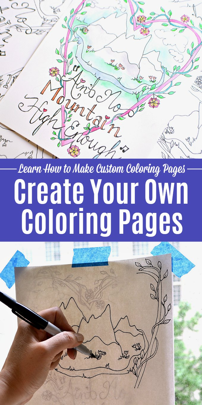 Make Your Own Coloring Pages with this easy tutorial.