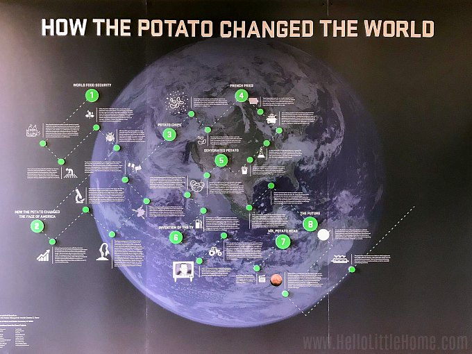 How the Potato Changed the World display at the Idaho Potato Museum.