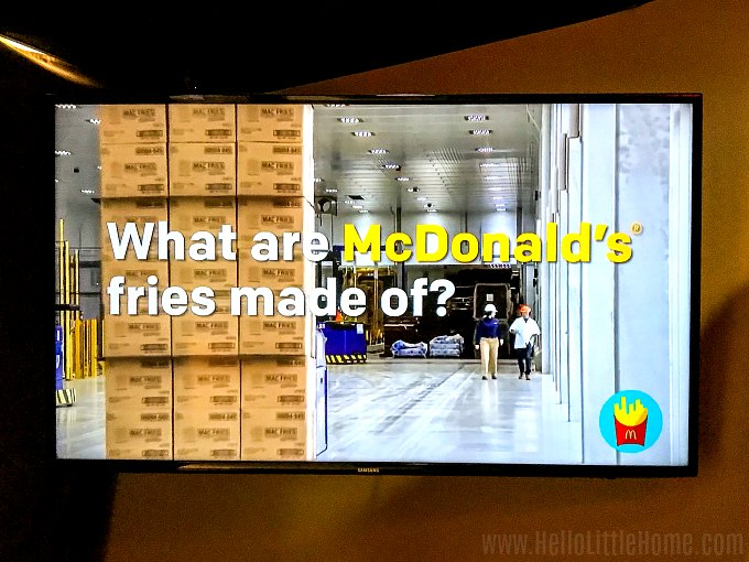 A video about McDonald's French Fries at the Idaho Potato Museum.