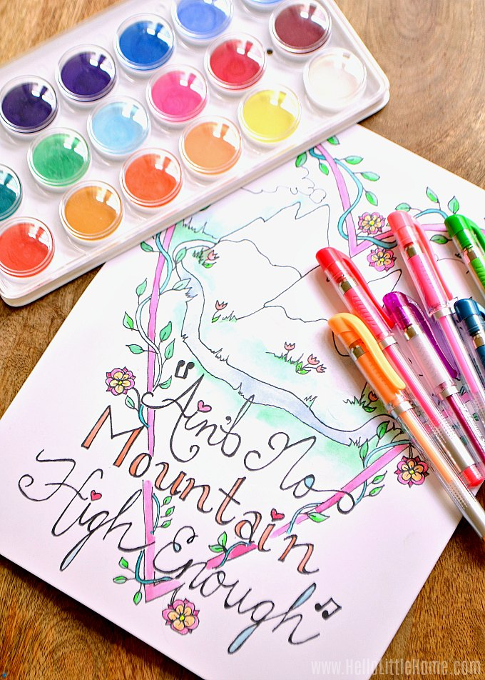 Make your own coloring pages.