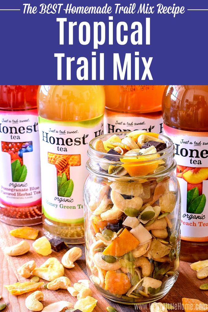 Tropical Trail Mix and Honest Tea.