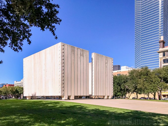 John F Kennedy Memorial Plaza, one of the most popular Downtown Dallas attractions.