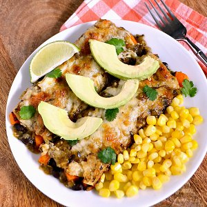 Roasted Vegetable Recipes Idea: Black Bean and Butternut Squash Enchiladas