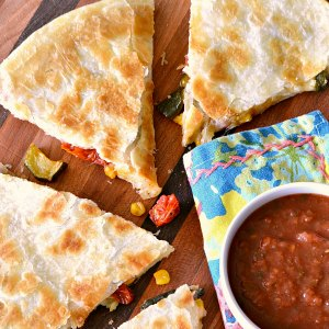 Roasted Vegetable Recipes Idea: Roasted Vegetable Quesadillas