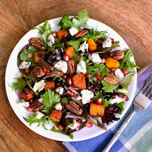 Roasted Vegetable Recipes Idea: Roasted Butternut Squash and Gorgonzola Salad