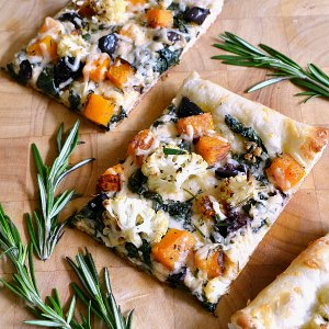 Roasted Vegetable Recipes Idea: Roasted Fall Vegetable Pizza