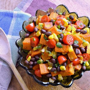 Roasted Vegetable Recipes Idea: Tex Mex Roasted Sweet Potato Salad