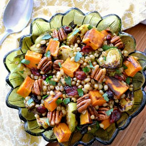 Roasted Vegetable Recipes Idea: White Berry Salad with Roasted Vegetables