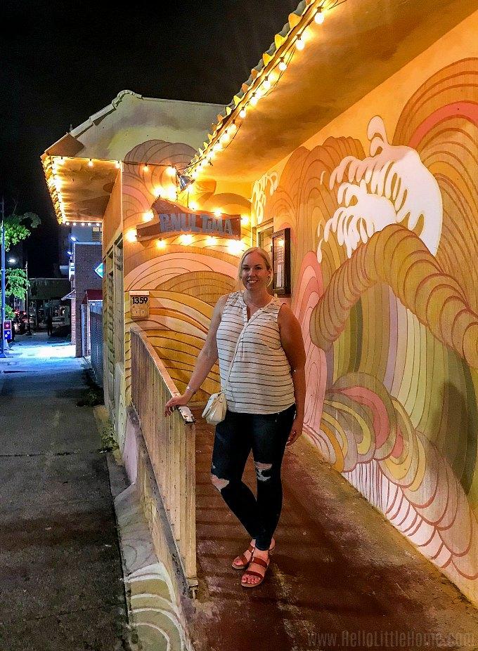 Exterior of La Penultima in Santurce, Puerto Rico.