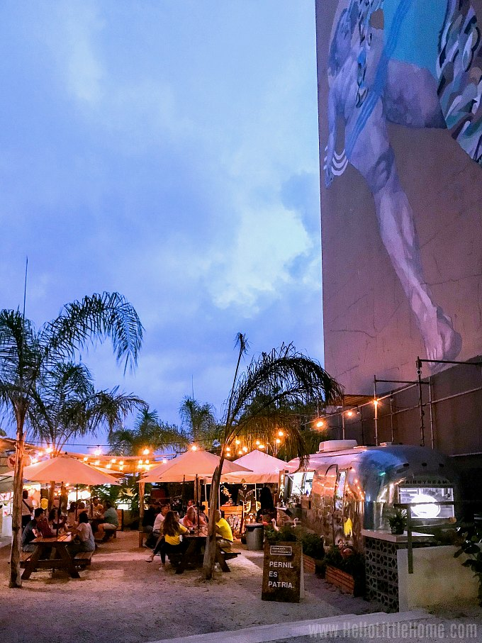Lote 23, an outdoor food court in Santurce, Puerto Rico.
